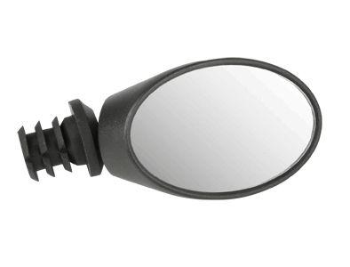 Rétroviseur ovale Réglable à 360° 3 positions Noir