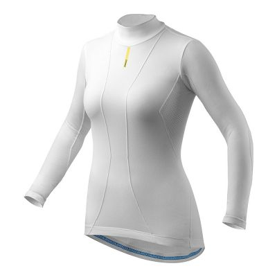 Maillot thermique femme Mavic Cold Ride manches longues Blanc
