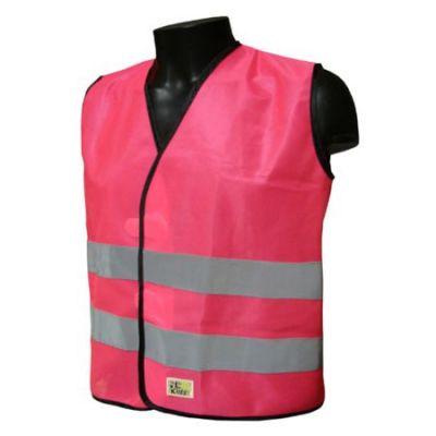 Gilet sécurité enfant L2S Visio Kid Rose fluorescent