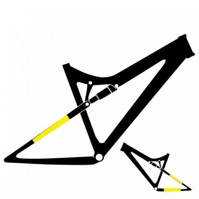 """Protection adhésive 4&2 pour triangle arrière 29"""" Brillant"""