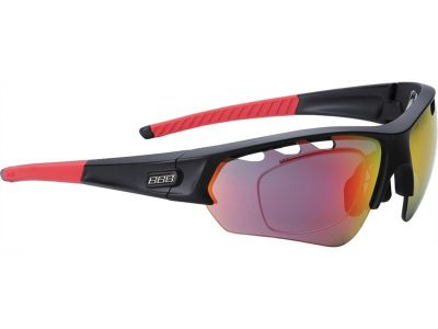 Lunettes BBB Select Optic Noir mat verres rouges 5109 - BSG-51