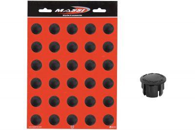 Bouchons de cintre Massi Noir (Pack de 30)
