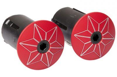 Bouchons de cintre Supacaz Star Plugz Rouge/Noir