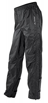 Pantalon imperméable Vaude Men's Fluid Full-zip Pants II Noir
