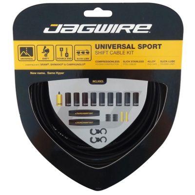 Kit câble et gaine de dérailleur Jagwire Universal Sport - Noir UCK202