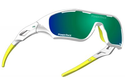 Lunettes Power Race Star Fighter Blanc/Vert