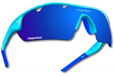 Lunettes Power Race Falcon photochromiques (5 verres) Bleu