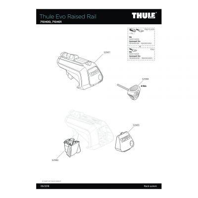 Cache inférieur de pied de fixation de barre de toi Thule Evo - 52986