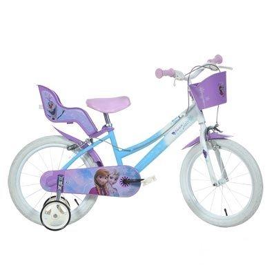 """Vélo enfant 14"""" Reine des Neiges Blanc/Violet"""