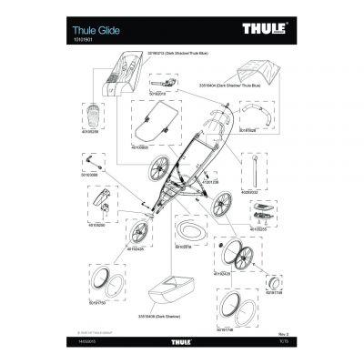 Embout d'axe de roue Thule Bleu - 50191749