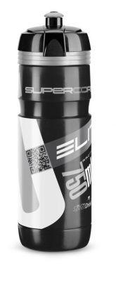 Bidon Elite Super Corsa 750 ml noir, logo argent