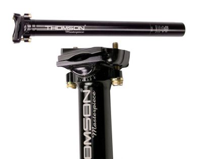 Tige de selle Thomson Masterpiece noire 31,6 mm x 350 mm