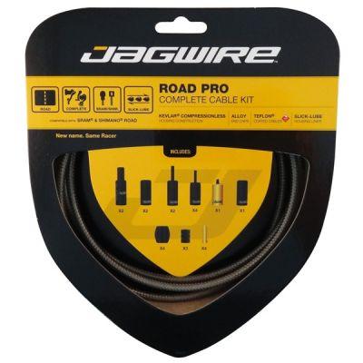 Kit complet câbles et gaines Jagwire Road Pro - Carbon Silver RCK011