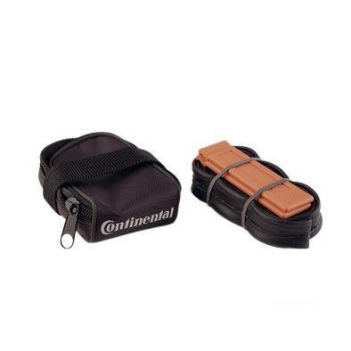 Sacoche de selle Continental + Kit réparation Chambre à air 700x23C 52 mm + Démonte-pneu