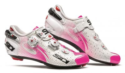 Chaussures femme Sidi WIRE WOMEN AIR Carbon Vernice Blanc/Rose fluo