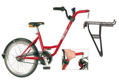 """Vélo suiveur Roland ADD+BIKE 20"""" 1V + porte-bagages Rouge"""