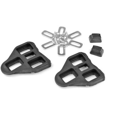 Cales pédales compatibles Look Delta noire (la paire)