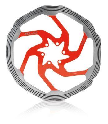 Disque de frein XLC BR-X58 Diamètre 180 mm 6T Argent / Rouge