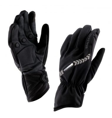 Gants imperméables SealSkinz Halo All Weather Cycle à LED Noir