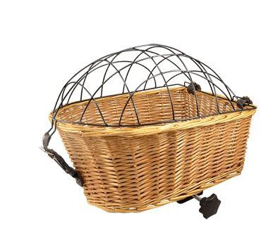 Panier AR Osier pour animaux Fix. Porte-bagages Avec grille de protection