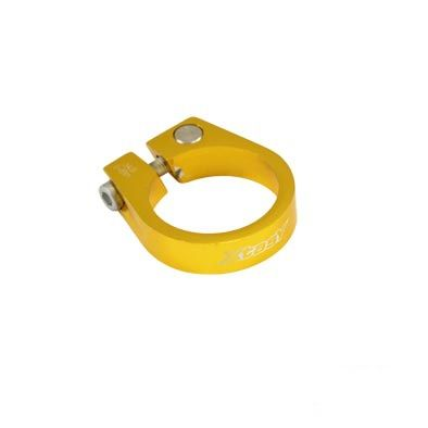 Collier de tige de selle 34,9 mm Alu 6061 Or