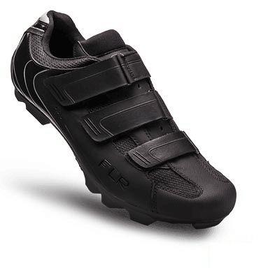 Chaussures VTT FLR Elite F-55 3 Bandes auto agrippantes Noir