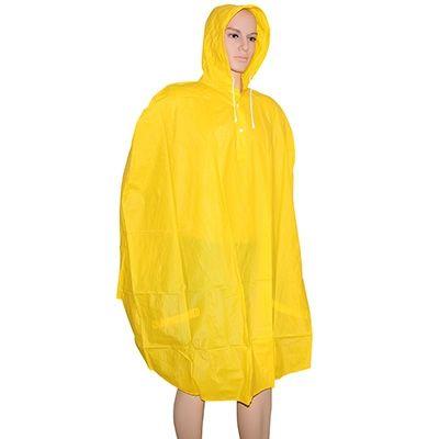 Poncho de pluie Adulte PVC Haute qualité Jaune