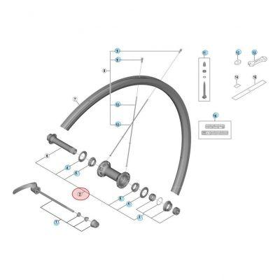 Axe De Moyeu Shimano WH-RS700 WH-RS700-C30-TL-F