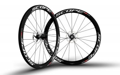 Roues Scope R4D 45 mm disque CL Shimano 11V Blanc (Paire)