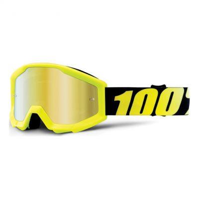 Masque 100% Strata Enfant Neon Yellow/Gold