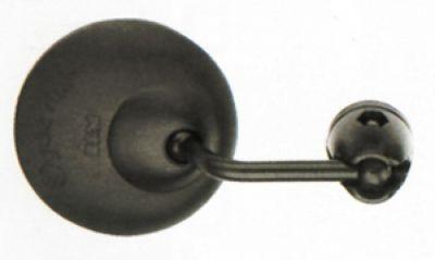 Rétroviseur de vélo B&M Cycle Star 901/3 60 mm Uni Tige courte galbée Noir