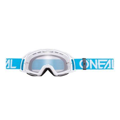 Masque O'Neal B20 Flat Bleu/Blanc Clear