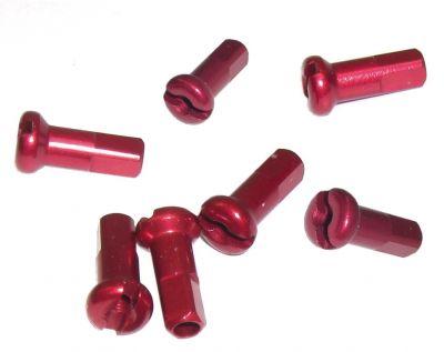 Écrou de rayon DT Swiss M 2x12 Aluminium tête ronde Rouge