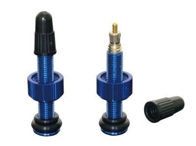 Valve tubeless Yuniper alu 50 mm (à l'unité) Bleu