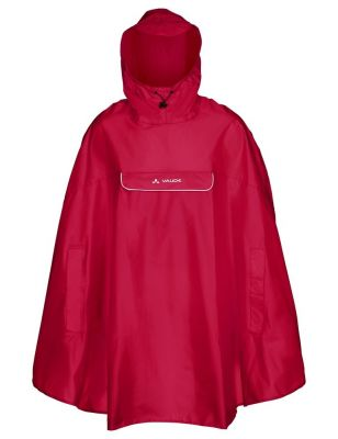 Poncho imperméable Vaude Valdipino Indian Rouge