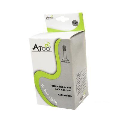 Chambre à air ATOO 24 x 1.75/2.00 Schrader 35 mm