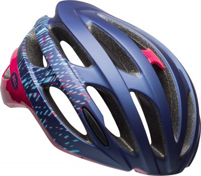 Casque femme Bell Falcon MIPS Joy Ride Bleu/Cerise