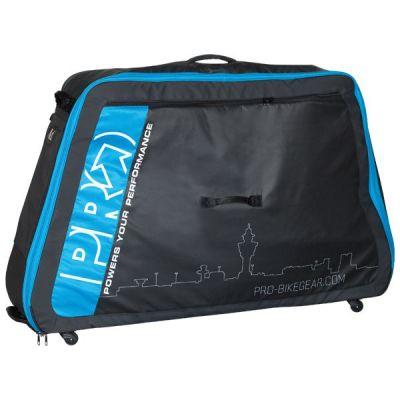 Valise de transport vélo Pro base rigide alu Noir/Bleu