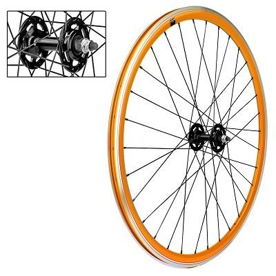 Roue avant fixie VELOX 700c Alu 30 mm Orange