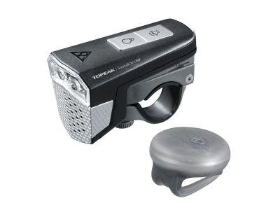 Éclairage avant / avertisseur Topeak SoundLite 3 LEDs USB + Télécommande ss fil Noir
