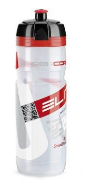 Bidon Elite Super Corsa 750 ml transparent, logo rouge
