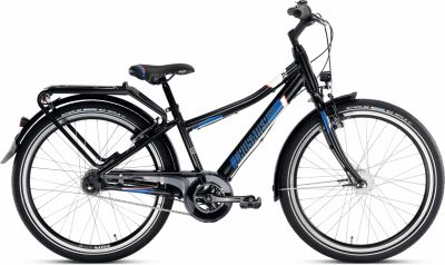 "Vélo Enfant 24"" PUKY Crusader 24-7 Alu Light City Noir"