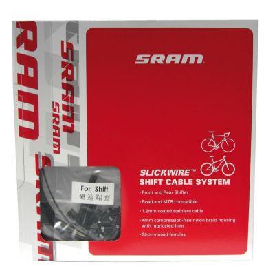 Kit SRAM Slick Wire câble et gaine de dérailleur Road+VTT 1,2 mm Noir