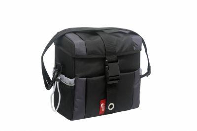 Sacoche de guidon New Looxs Vigo imperméable Turnlock System 9,5 L Noir/Gris