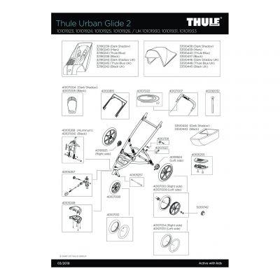 Pièce de rechange Thule Urban Glide 2 - 40107027