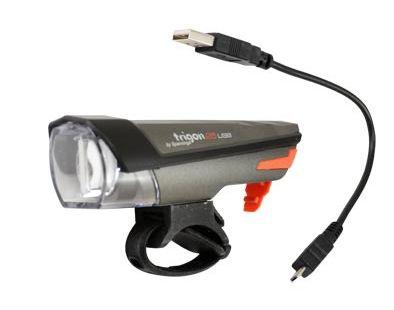 Éclairage AV Spanninga Trigon 25 Lux LED USB StVZO Gris