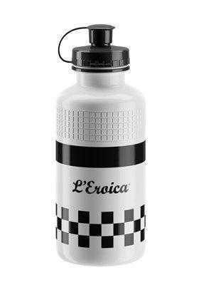 Bidon Elite L'Eroica Vintage 500 ml Classic Blanc/Damier