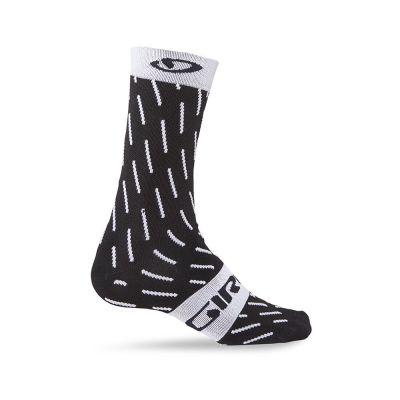 Chaussettes Giro Comp Racer High-Rise Noir/Blanc Echelon