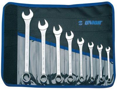 Jeu de clés mixtes Unior trousse 8 pièces 8-22 mm 125/1CT