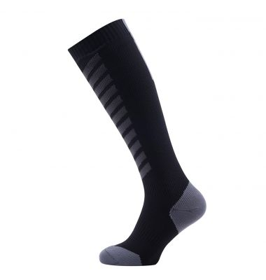 Chaussettes imperméables VTT SealSkinz Mid Knee Noir/Gris